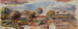 Pierre-Auguste RENOIR - Painting - Paysage du midi, fragment