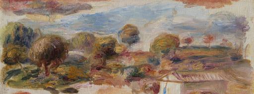 Pierre-Auguste RENOIR - Pintura - Paysage du midi, fragment