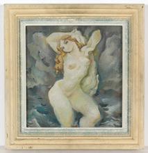 "Josef ADAMICEK - Pintura - ""Female nude"" oil painting, 1935"