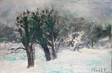 Jean POLLET - Painting - Neige
