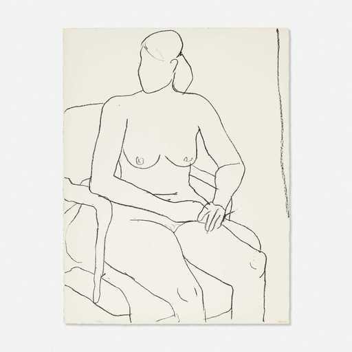 Richard DIEBENKORN - Estampe-Multiple - Nude