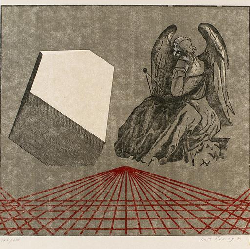 Karl RÖLLING - Grabado - Variationen zu Dürers Melancholie