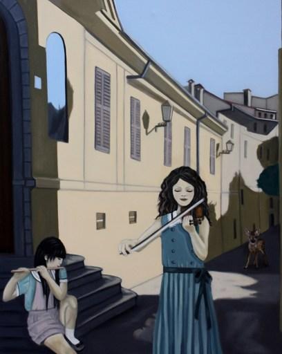 Eva Janina WIECZOREK - Gemälde - Musizieren in Krk