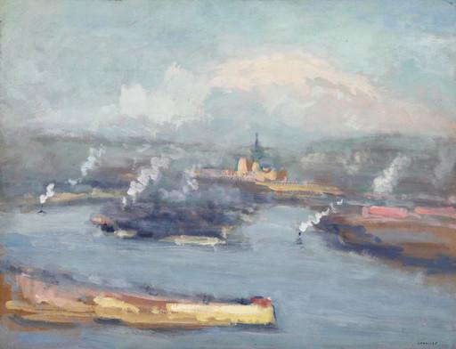 Maurice LOUVRIER - Pittura - Vue de Rouen