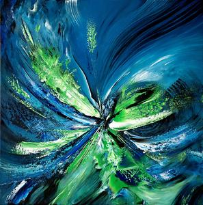Estelle BARBET - Peinture - Symphonie mentholée