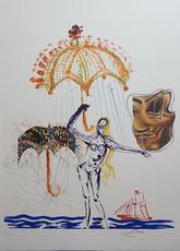 Salvador DALI - Print-Multiple - Imaginations & Objects of The Future Anti-Umbrella with Atom