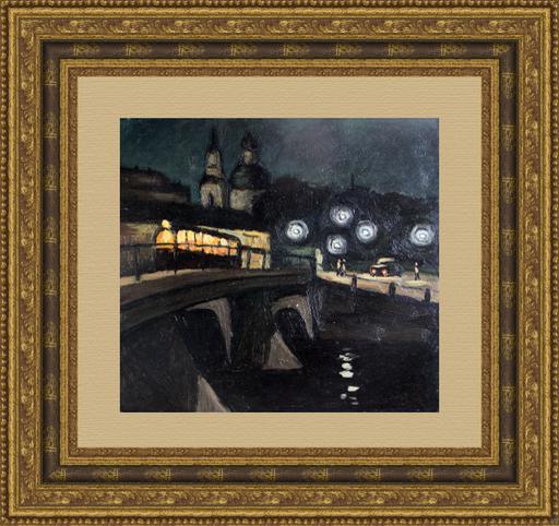 Valeriy NESTEROV - Gemälde - Leningrad. Belinskogo bridge