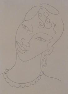 Henri MATISSE - Print-Multiple - Portrait of a Martinican Woman / La Martiniquaise