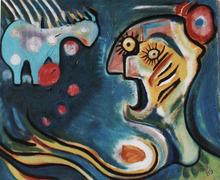 Abol ATIGHETCHI - Gemälde - LE CRI