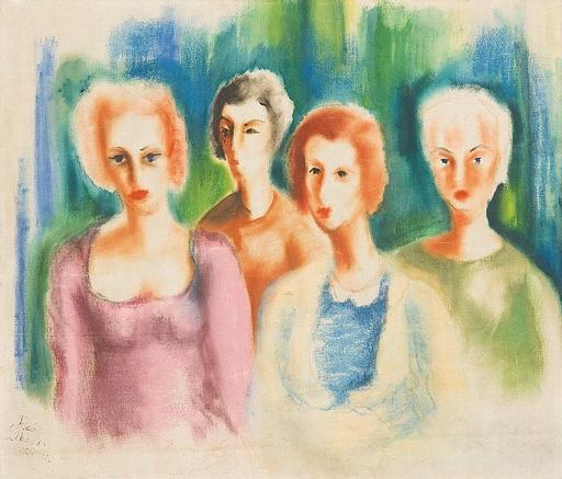 Robert LIBESKI - Peinture - Vier Frauen