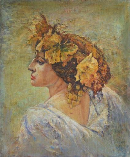 Ivan Grigor MIASOEDOV - Painting - Malvina Vernice - portrait of the artists wife