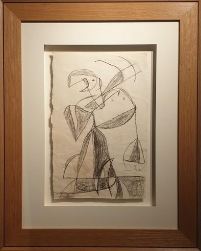 Joan MIRO - Disegno Acquarello - Femme Oiseau - Woman bird