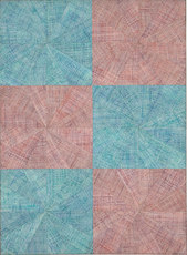 Mario NIGRO - Painting - Spazio-vibrazione simmetrica alternata con urto