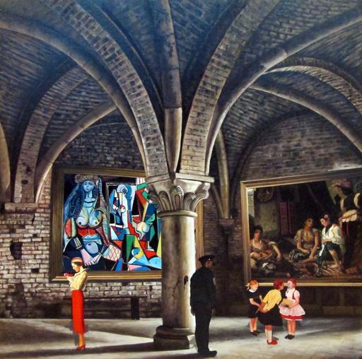 GULLY - Peinture - Picasso meets Delacroix