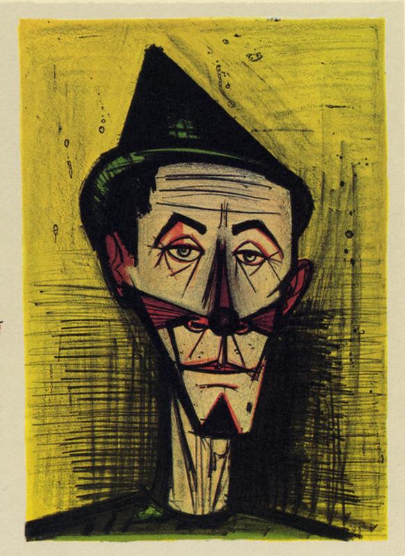 Bernard BUFFET - Print-Multiple - Le clown pointu