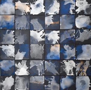 Bertille DE BAUDINIERE - Peinture - Blue Earth : Nocturne