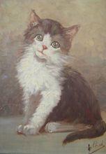 Karl KAUFMANN - Painting - Chaton