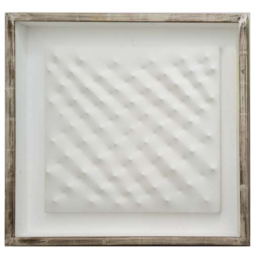 Enrico CASTELLANI - Peinture - Superficie bianca