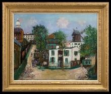 Maurice UTRILLO - Painting - Maquis à Montmartre