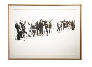 Emmanuel RÉGENT - Disegno Acquarello - La file d'attente