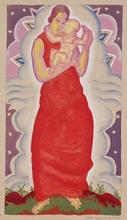 Josef LACINA - Drawing-Watercolor - Art Deco Madonna, 1926, watercolor