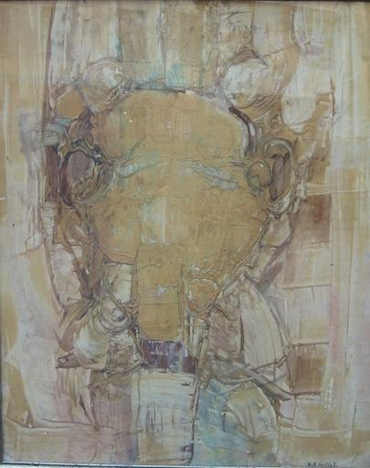 Roger-Edgar GILLET - Peinture - Portrait de ma tante Marie