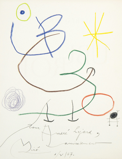 Joan MIRO - Drawing-Watercolor - Ubu Roi