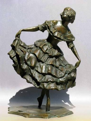 """Gleb W. DERUJINSKY - Escultura - Karsavina as Columbine in """"Carnival""""."""