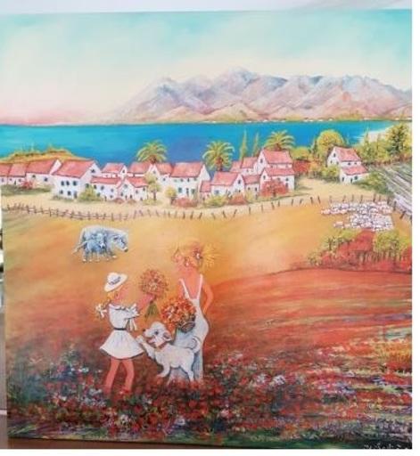 Jean-Claude LELIEVRE - Peinture - cueillette en PROVENCE
