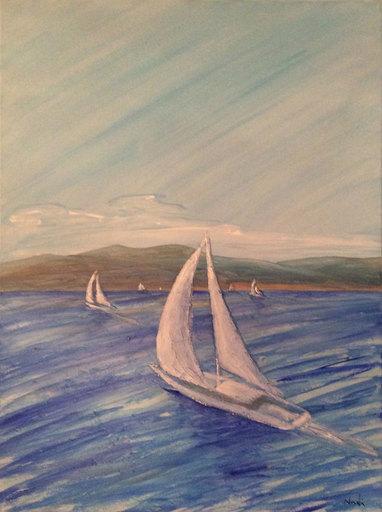 Pier Paolo NUDI - Pintura - Vele mare azzura