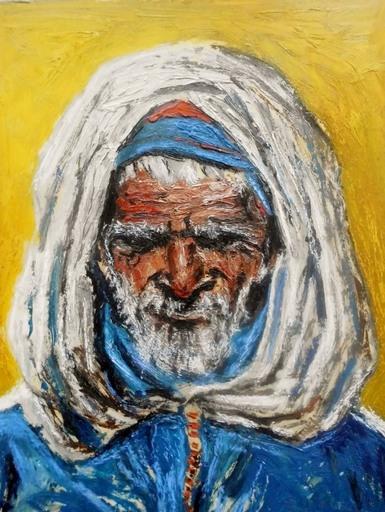 Hans TOMBROCK - Pintura - alter Araber aus Marokko
