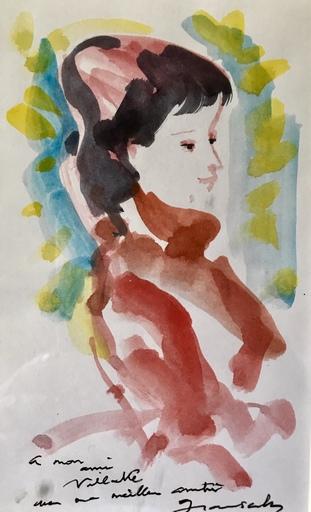 Emilio GRAU-SALA - Drawing-Watercolor - Young women