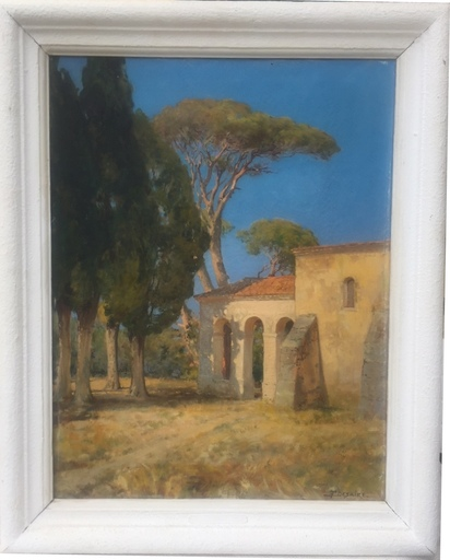 Fernand DESAIRE - Painting - mas provençal