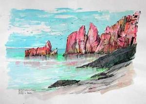 Aldo RISO, Le rocce rosse di Arbatax (SARDEGNA)