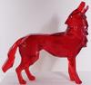 Richard ORLINSKI - Sculpture-Volume - Loup hurlant - Red crystal