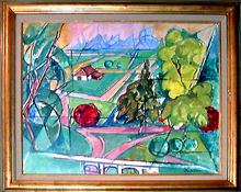 Jacques DESPIERRE - Pintura - Le Pré III Chantilly