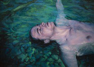 Guillaume MONTIER - Painting - « L'étreinte émeraude »