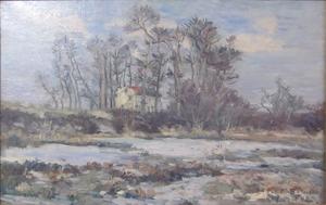 Emmanuel DE LA VILLÉON - Pintura - Le Pavillon au bord de la Seine