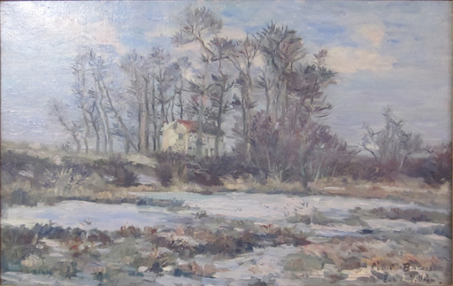 Emmanuel DE LA VILLÉON - Pittura - Le Pavillon au bord de la Seine