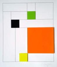 Gottfried HONEGGER - Grabado - Konkrete Komposition