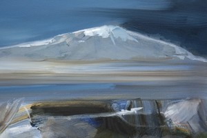 Simon ANDREW - Painting - Moon and Mountain