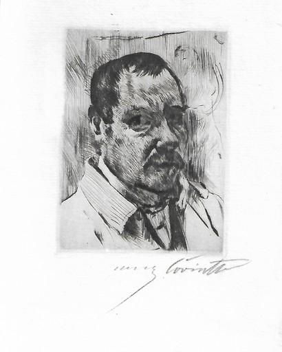 洛维斯·科林斯 - 版画 - Self-Portrait (Selbstbildnis)