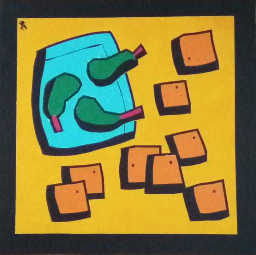 Harry BARTLETT FENNEY - Pittura - still life pears and oranges