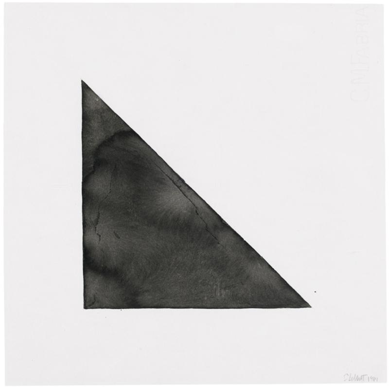 Sol LEWITT - Disegno Acquarello - Right triangle