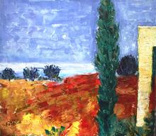 Patricia ABRAMOVICH - Gemälde - Orange Field