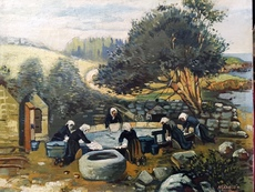 Mark William LANGLOIS - Pintura - au lavoir
