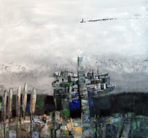 Bobur ISMOILOV - Peinture - Heavenly navigation