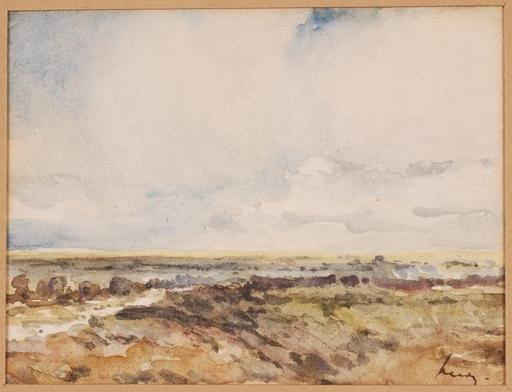 """Marino LUSY - Dessin-Aquarelle - Marino M.Lusy (1880-1953), """"Landscape"""", Watercolor, 1900's"""