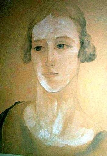 Nathalie GONTCHAROVA - Dibujo Acuarela - Portrait of Maria Chabelska (a dancer in Diaghilev Ballet)