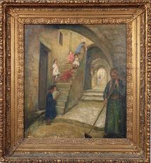Joseph TEPPER - Pintura - Children in the Old City of Jerusalem